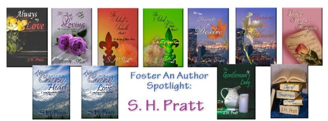 Promotional Banner for Foster an Author Spotlight on S. H. Pratt