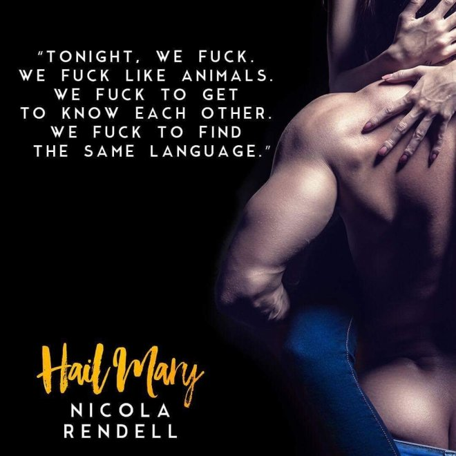 A sexy photo teaser with a quote from Hail Mary