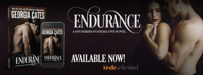Available Now Banner for Endurance by Georgia Cates