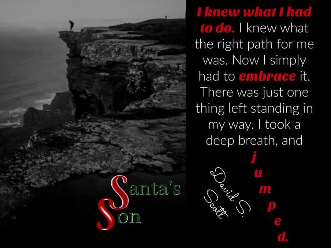 Teaser photo with a quote from Santa's Son