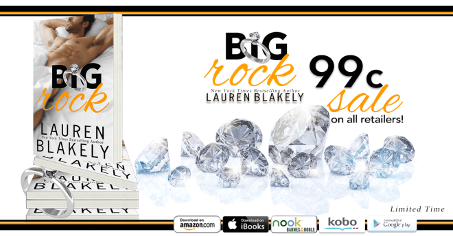 Sale Banner for Big Rock, by Lauren Blakely