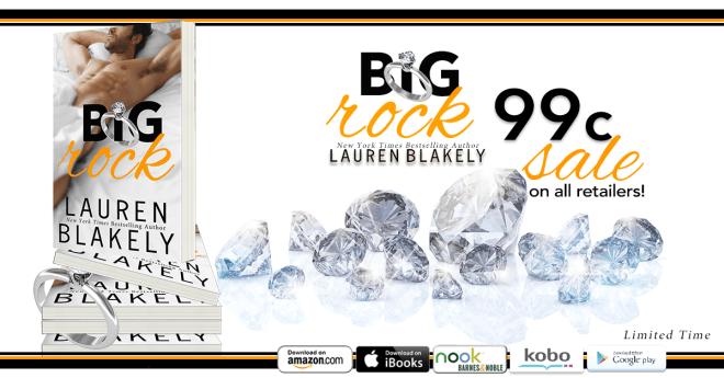 Sale Banner for Big Rock, by Lauren Blakely