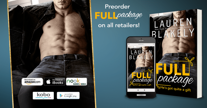 Promo Banner for Full Package by Lauren Blakely