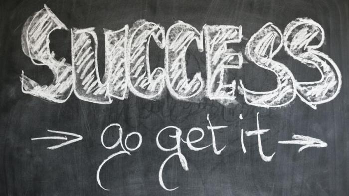 the words success go get it