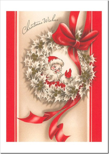 MC-00228-C~Christmas-Wishes-Santa-in-Wreath-Posters