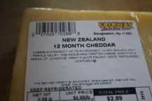 12 Month aged cheddar from Fairway