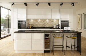 granite, kitchen, high gloss, interior design, kitchen design