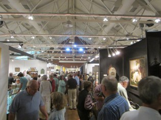 Some of the crowds at the NH Antique Dealer's Association show.
