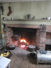 I recently had the opportunity to cook dinner in the kitchen of the small yellow tavern at Eastfield. It was a day to remember, filled with friends, historic buildings, wonderful food and lively conversation. Simply perfect in every way...
