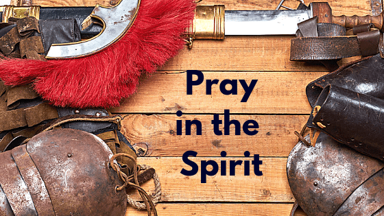 Pray in the spirit title graphic