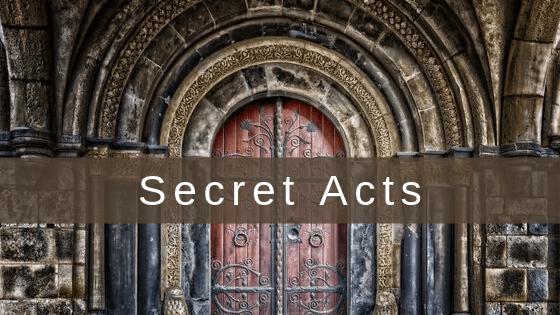secret acts title graphic