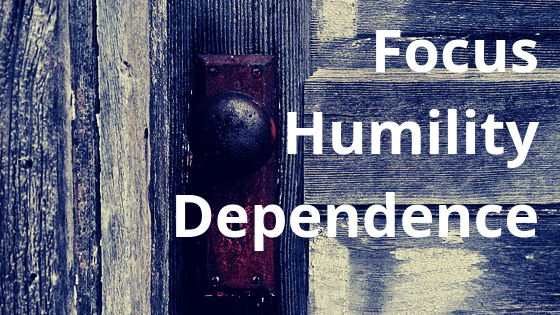 Focus humility dependence title graphic