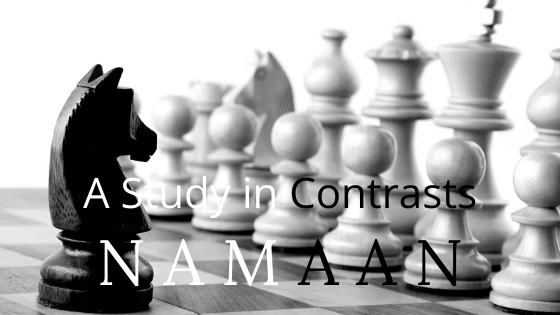 Namaan Study in Contrasts title graphic
