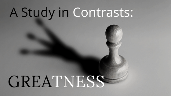 A Study in Contrasts Greatness title graphic