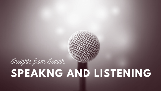 Speaking and Listening title graphic