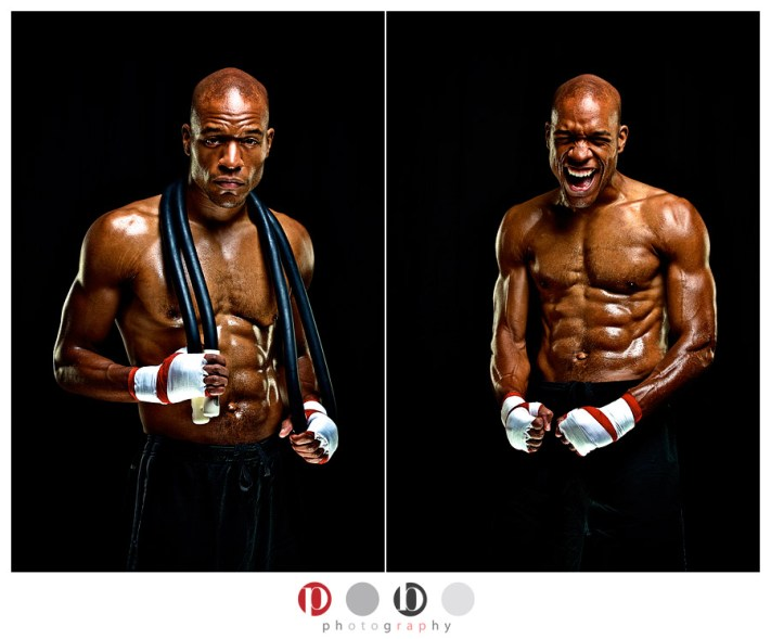 Promotional photos for a Boxing/MMA gym