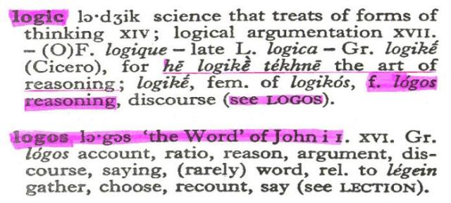 """Definitions of """"logos"""""""