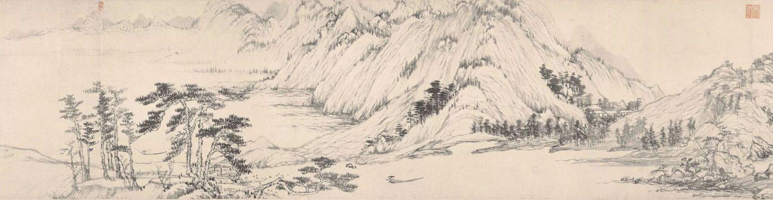 """Detail from Huang Gongwang's """"Dwelling in the Fuchun Mountains"""""""