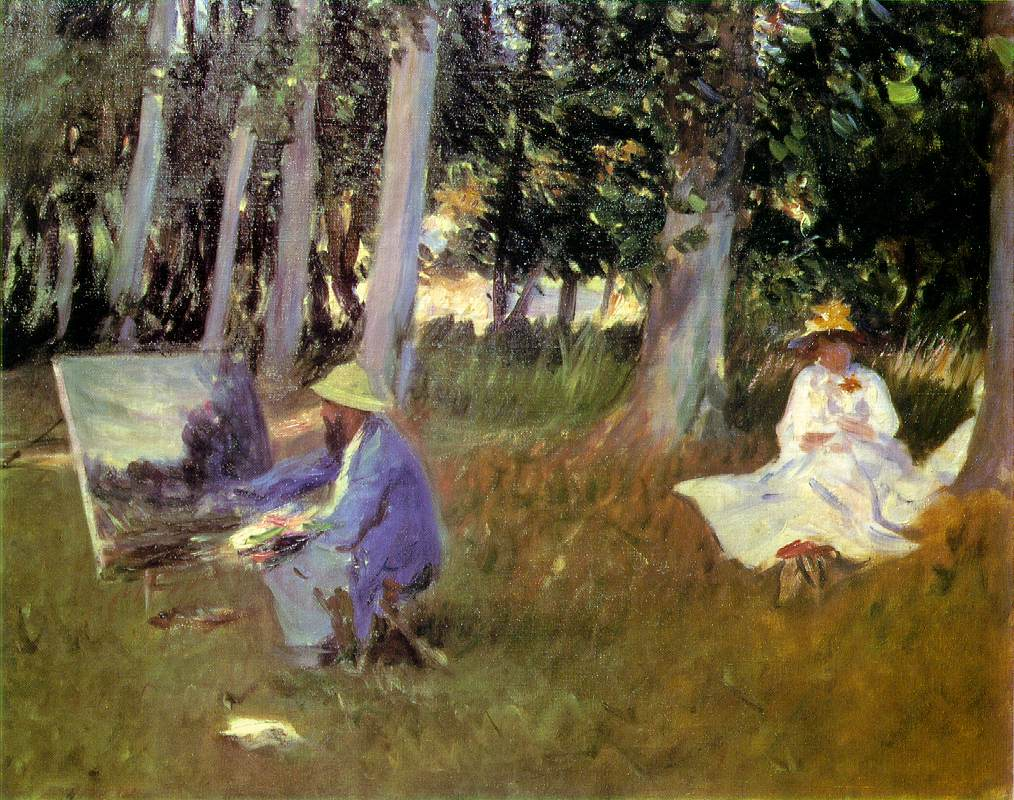 Sargent - Claude Monet Painting in a Garden