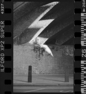 Overscanned negative of the Kilburn underpass shot