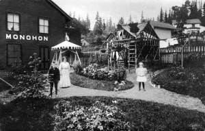 THEN: With his or her back to the east shore of Lake Sammamish an unidentified photographer recorded this Monohon scene in about 1909, the date suggested by the Eastside Heritage Center, by whose courtesy we use this historical record.