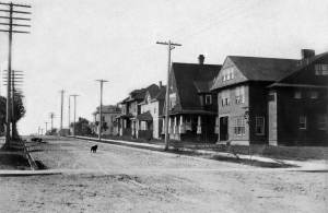 """THEN: Both the grading on Belmont Avenue and the homes beside it are new in this """"gift"""" to Capitol Hill taken from the family album of Major John Millis. (Courtesy of the Major's grandchild Walter Millis and his son, a Seattle musician, Robert Millis.)"""