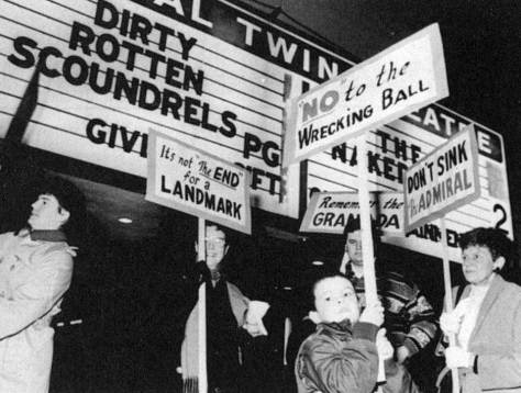 "On another January night 47 years later, West Seattle citizens protest the sudden closing of the admiral. Appropriately, or ironically, the film that was playing when the theatre went dark was ""Dirty Rotten Scoundrels."