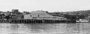 "THEN: Pier 70 when it was still Pier 14, ca. 1901, brand new but not yet ""polished.""  Courtesy, Lawton Gowey"
