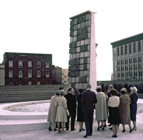 Group by City Hall Fountain, Oct 6, 1962
