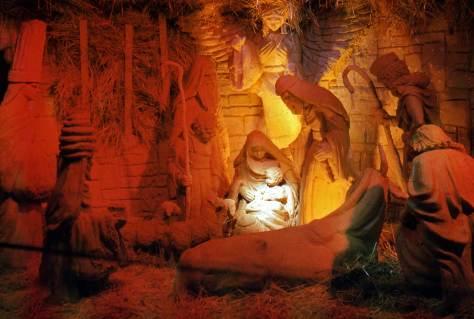 KING RADIO's Nativity scene at Aurora and Thomas in 1954.