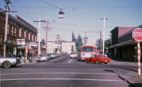 Looking east on Boston St. through Queen Anne Ave. on Aug. 25, 1971.