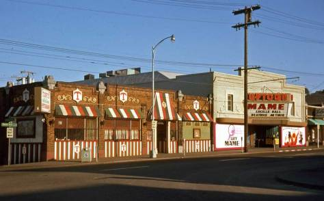"""Tony's and the Uptown on """"lower"""" Queen Anne Avenue July 11, 1974."""
