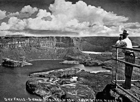 THEN at the Dry Falls lookout