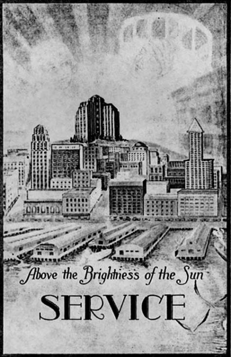 The cover to a pamphlet promoting the vision of a new hospital on the hill without yet naming it.