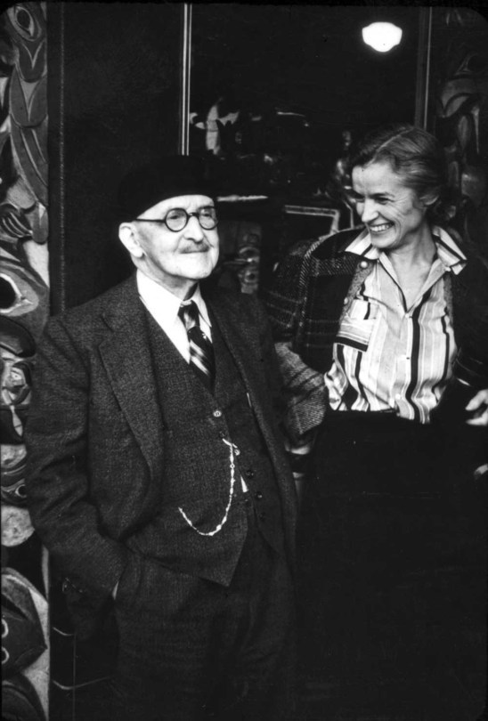 Arthur's snapshot of Ye Old Curiosity Shop's Pop Stanley posing with a woman who appears often in Link's loose negatives and prints. Here name is Carinne. That is all I know.