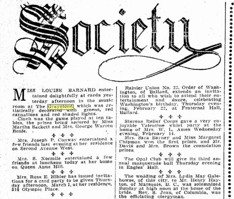 A Seattle Times clip from Feb. 21, 1906.