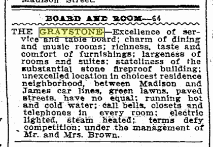 A Times classified from Oct. 15, 1906.