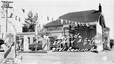 The station at 2531 Beacon in1961.  The house south of the station is still in place facing 15th Ave. South.