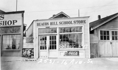 The Beacon Hill School Store, nearby to Ellis and also on 16th Ave. S.
