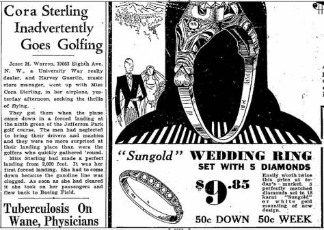 Not a CRASH of any kind! Seattle Times - Oct. 6, 1933