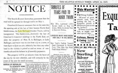 Seattle Times, April 24, 1910