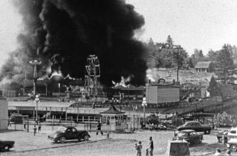 Scene from the Playland fire of August 1933.