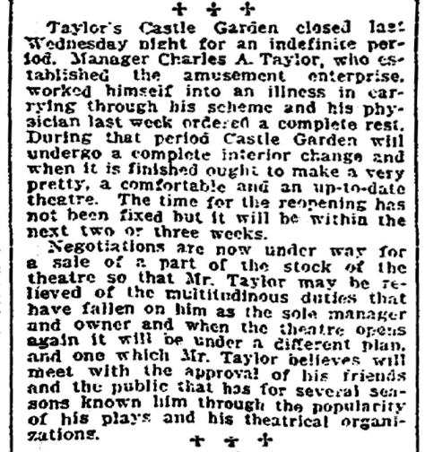 A clip addressing Taylor's difficulties as at least in part the result of acute bad health. May be and maybe not.