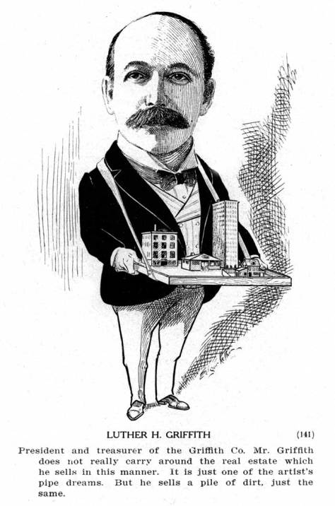 Luther Griffith from Argosy's 1904 collection of caricatures of Seattle VIP men - only.