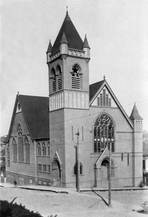 First Methodist, southeast corner of 3rd Ave. and Pine  Street.