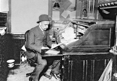 Robert Moran at his desk.  Courtesy: Hal Will