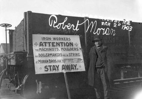 A Moran Shipyard lockout of labor in 1903.