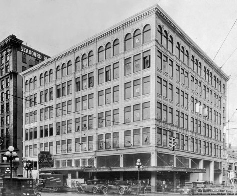 "The ""highest and best"" Ranke building at the northwest corner of 5th Ave. and Pike Street"