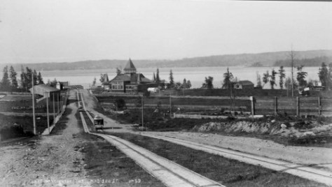 Looking east on Madison to Lake Washington ca. 1890.