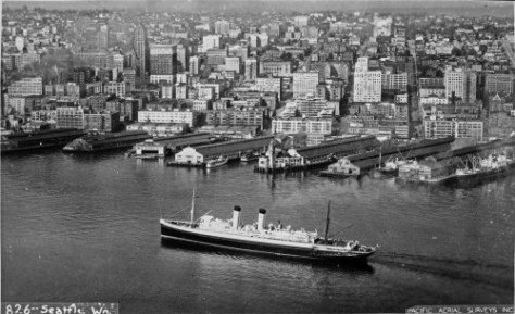 The sheltered floating hanger for Gorst's planes was tied to the water end of Pier 3/54.